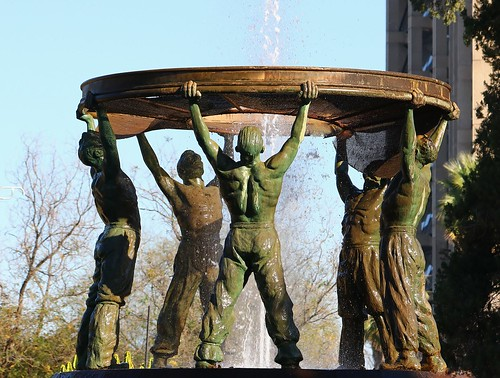 5 Bronze Miners @ Diggers Fountain Kimberley SA (3) Explored