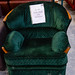 Dark green fabric arm-chair E45