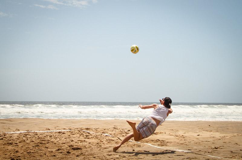 Strandtag Swakopmund Namibia Süd-Afrika Volleyball