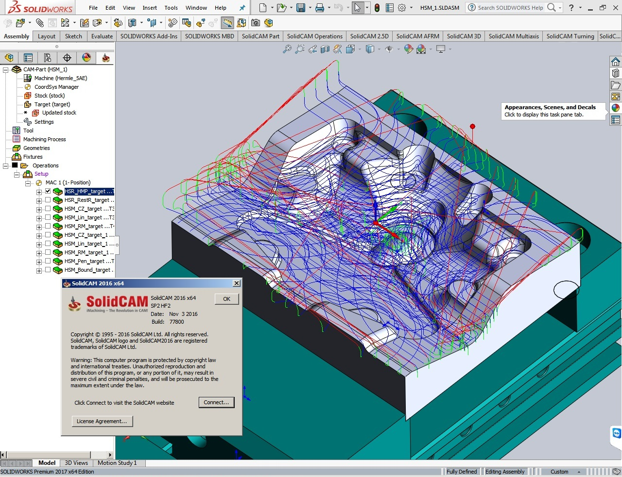 Working with SolidCAM 2016 SP2 HF2 full crack