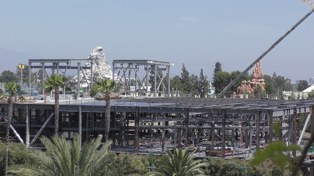 Star Wars Land construction at Disneyland Park, June 3rd, 2017