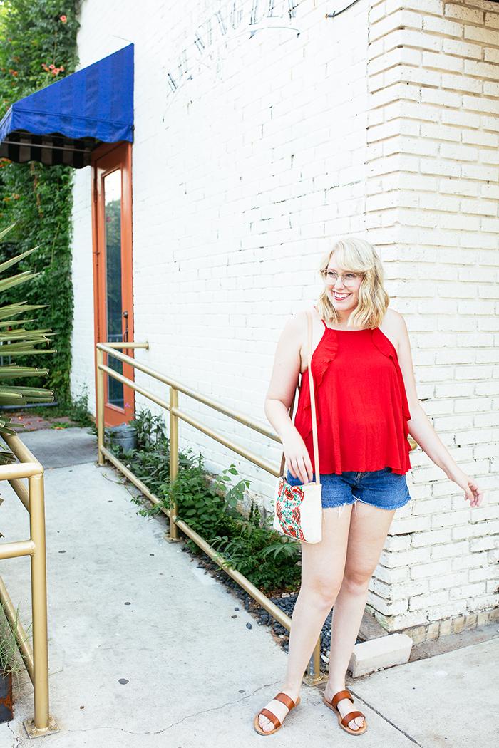 austin fashion blogger writes like a girl red tank top3