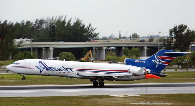 Amerijet International B727-200F N199AJ landing MIA/KMIA