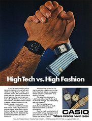 High Tech vs. High Fashion. 1985 Casio watches