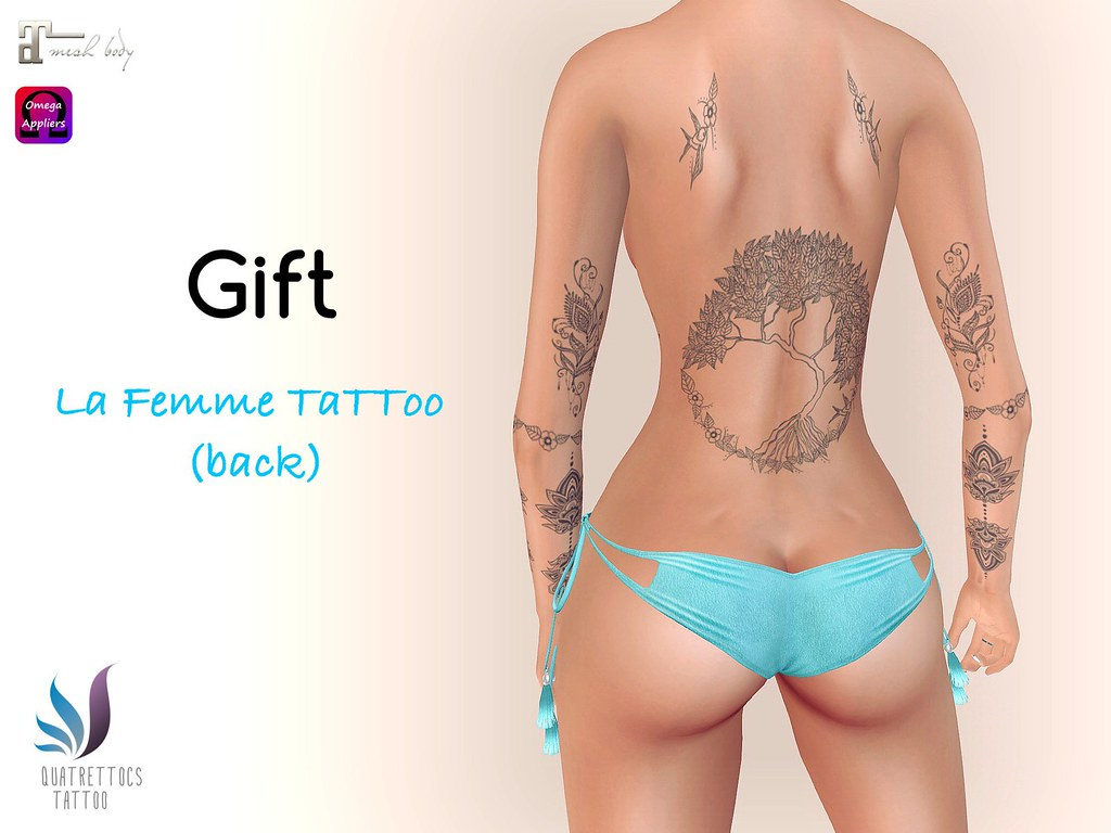 La Femme Tattoo (back) - July Gift - SecondLifeHub.com