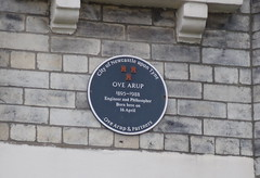 Photo of Ove Arup black plaque