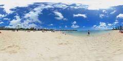 Ala Moana Beach Park in Honolulu - a 360° Equirectangular VR