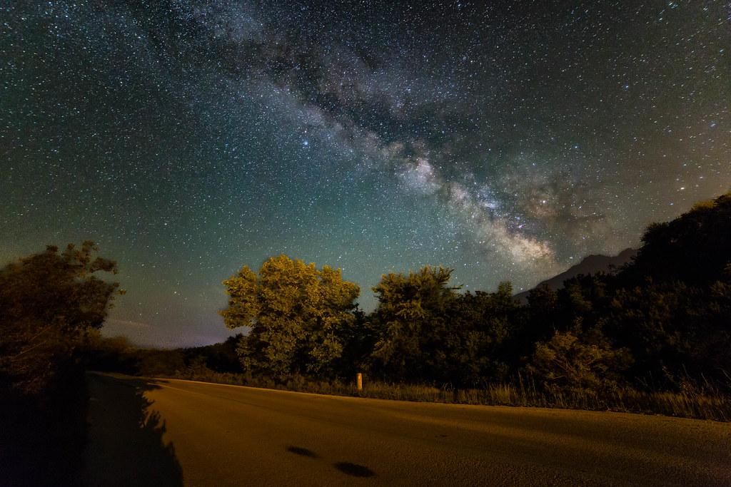 Milky way above Samothrace island
