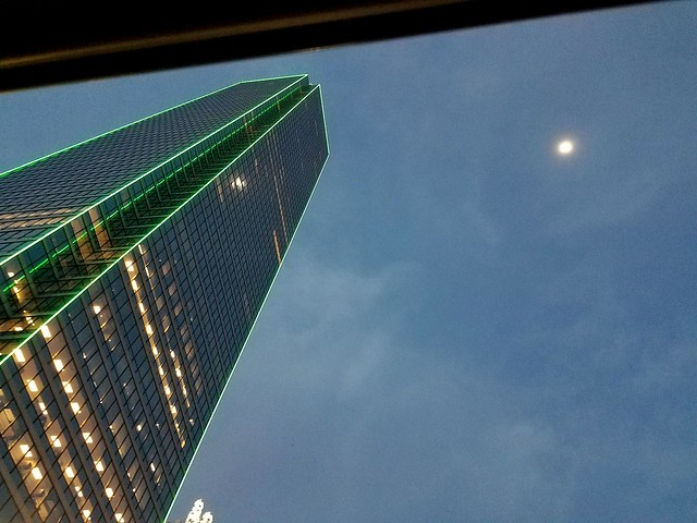 Took this from a car window, It's the Bank of America Plaza on Main St. Dallas.