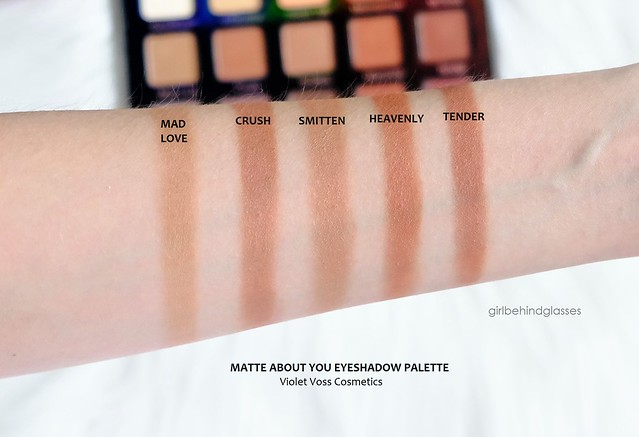 Violet Voss Matte About You Eyeshadow Palette Row 2 swatches