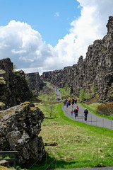 Rift between tectonic plates, Pingvelir National Park, Iceland; May 2017
