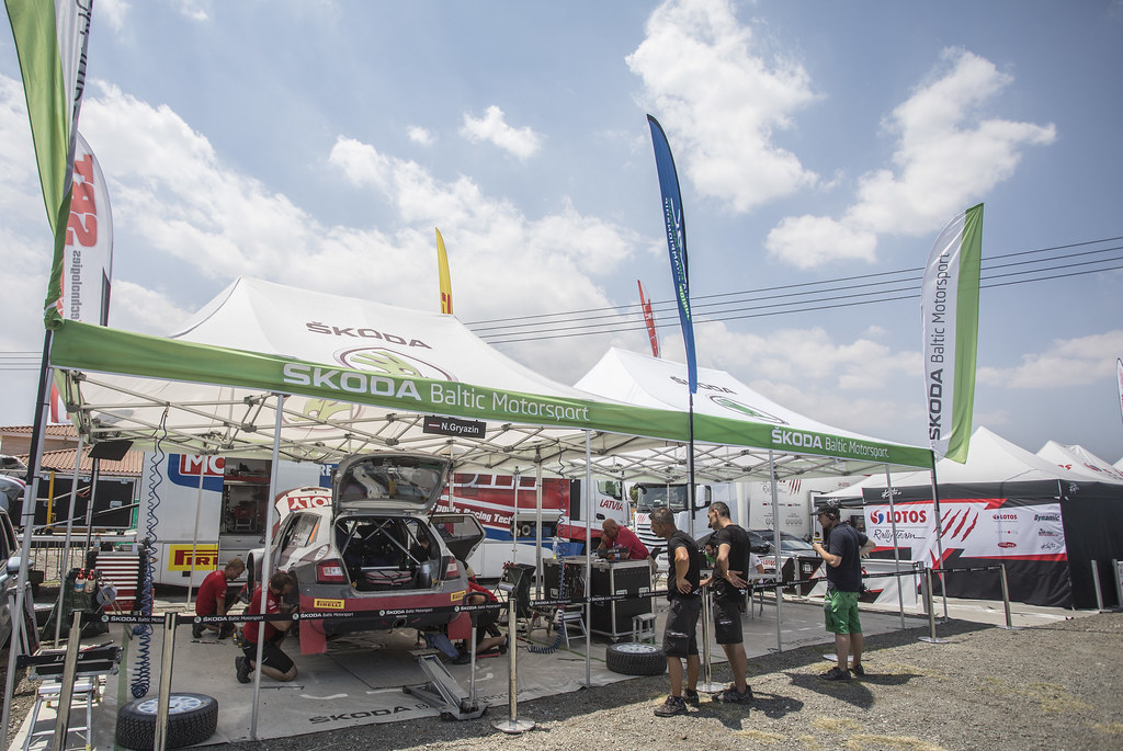 GRYAZIN Nikolay (lva) and FEDOROV Yaroslav (rus) SPORTS RACING TECHNOLOGIES SKODA FABIA R5 ambiance portrait during the 2017 European Rally Championship ERC Cyprus Rally,  from june 16 to 18  at Nicosie, Cyprus - Photo Gregory Lenormand / DPPI