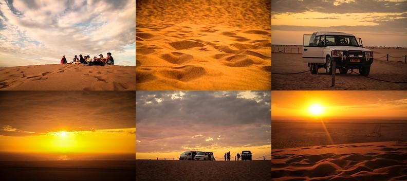 namibia namib wüste urlaub genießen in afrika sonnenuntergang