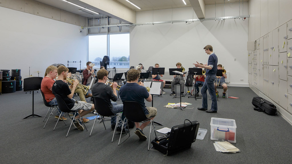 A student ensemble rehearsing at The Edge