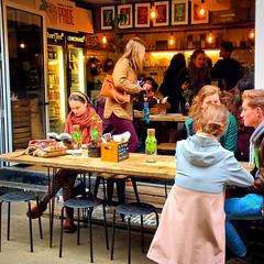 Eating in Neal's Yard