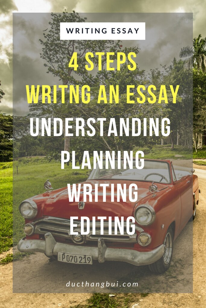 4 steps of writing an IELTS essay - 4 buoc de viet mot bai IELTS Writing