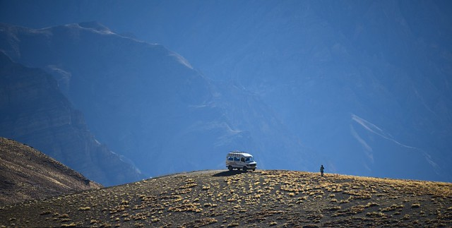 Our driver and vehicle in the high Himalayas, India 2016