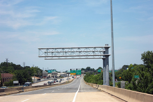 64 Express Lanes, Toll Gantry Installation - June 12, 2017