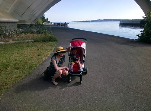 Amy and Ezra at Jones Point #throughglass