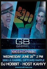 Wednesday 6/28 2pm Gabriel - DJ Hobbit - L$ 3000 GIFTCARD Raffle