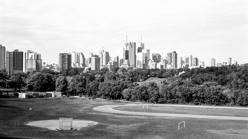 Saturday Morning Toronto Skyline from Broadview_