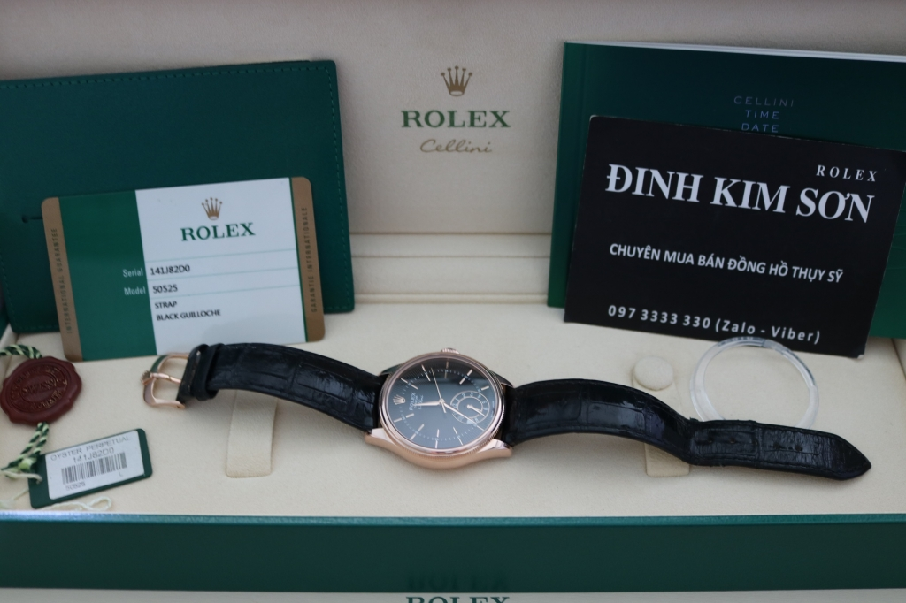 Đồng hồ rolex cellini 50525 – Vàng hồng 18k rose gold – size 39mm – đầy đủ hộp sổ