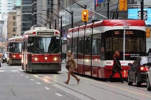 Streetcars at Yonge and King Streets, Toronto