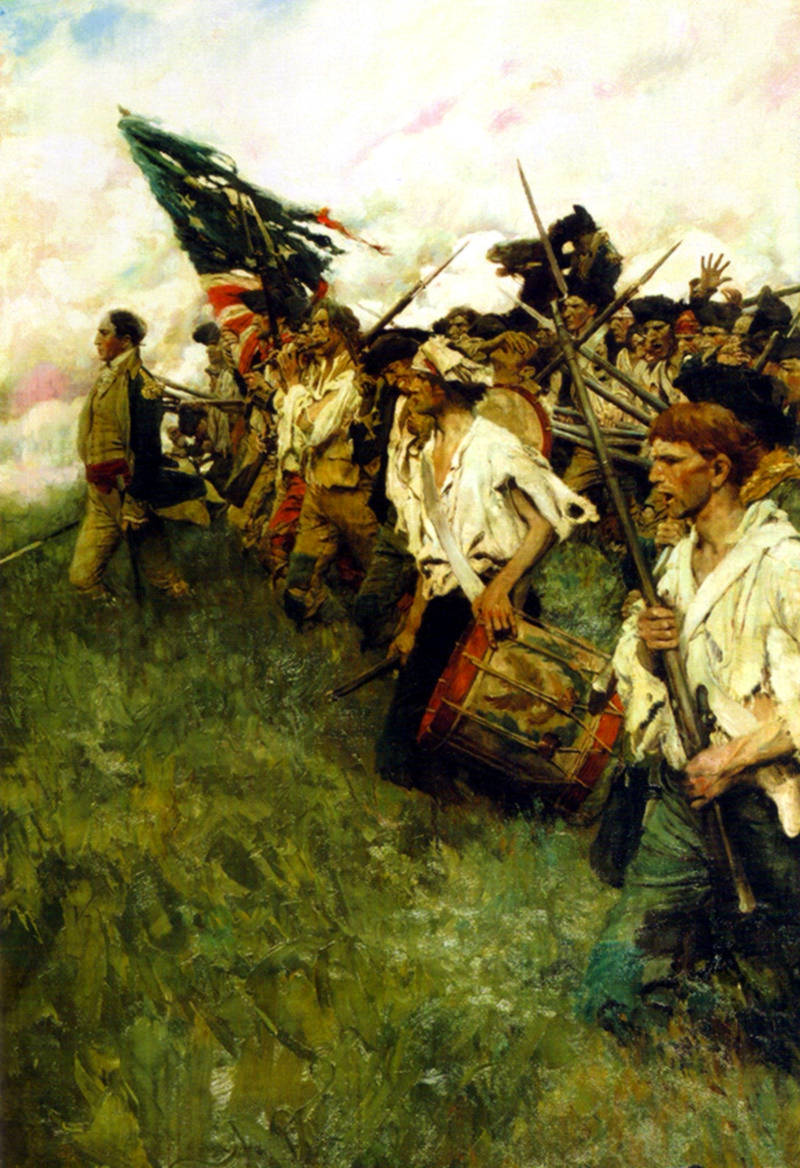 Nation Makers by Howard Pyle depicts a scene from the Battle of Brandywine