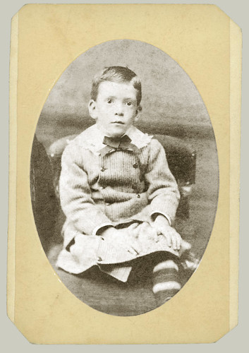 CDV trimmed oval portrait of small boy
