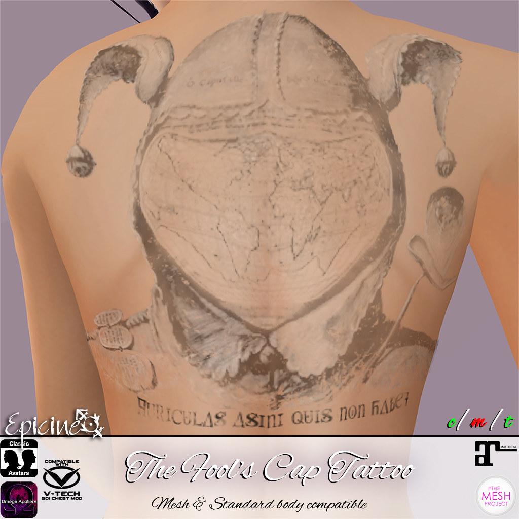 Epicine - The Fool's Cap Tattoo - SecondLifeHub.com