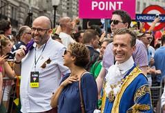 Lord Mayor of Westminster, Ian Adams, London Pride Parade 2017