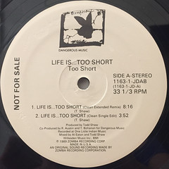 TOO SHORT:LIFE IS TOO SHORT(LABEL SIDE-A)