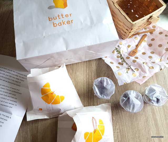 Butter Baker complimentary sampling package