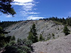 Huge Landslide on Slope of Wright Mountain (8,505') Near Pacific Crest Trail- 6/10/17