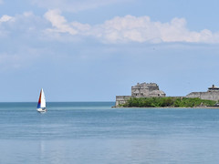 Sailing by Fort Niagara