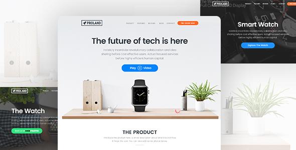Proland v1.6.4 - WordPress Product Landing Page Theme