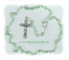 Rosebud Pater Option for August Birthstone Rosary