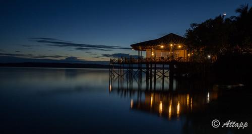 nabucco ekalimantan indonesia asia island sunset moonrise moon starlights bluehour reflection stilts hut calm