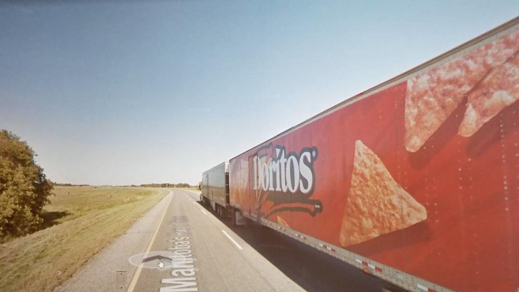 Chips bigger than trees! #ridingthroughwalls #xcanadabikeride #googlestreetview #manitoba