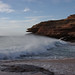 Small photo of Waves coming in against the wind at Pot Alley