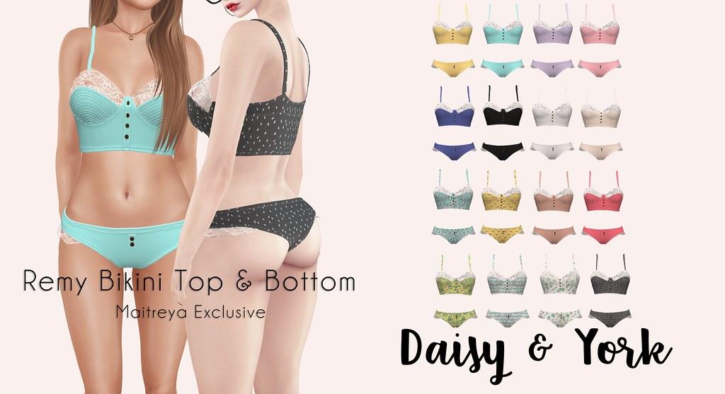 Daisy & York - Remy Bikini Top & Bottom - SecondLifeHub.com