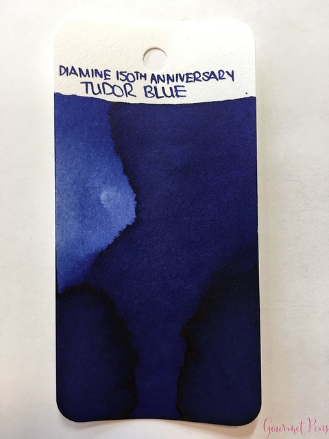 Ink Shot Review Diamine Anniversary Tudor Blue @AppelboomLaren 12