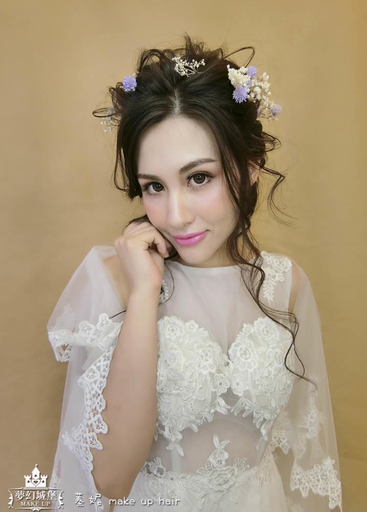 【新秘蓁妮】新娘造型創作 / 深髮色-仙氣盤髮