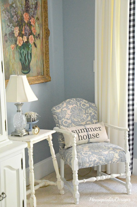 Guest Bedroom-Grain Sack Pillow-Housepitality Designs