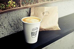 r.e. ~ posted a photo:This morning, a very proper flat white at this beautiful coffee bar in West Hollywood. 866 Huntley Drive, West Hollywood, California
