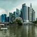 Pano view of cityscapre -Esplanade, Singapore