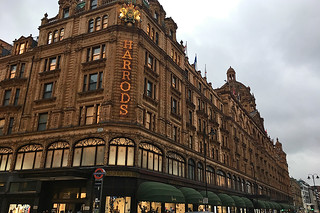 London - Harrods side facade