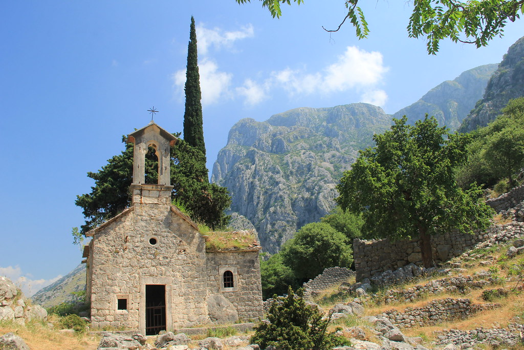 Tiny stone church, Ladder of Cattaro