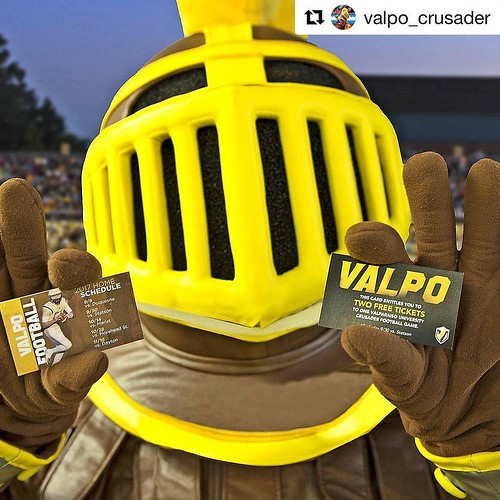 Who's going to tonight's outdoor movie? We know one mascot who will be there! #GoValpo #Repost @valpo_crusader ・・・ I'll be downtown tonight with @valpoufootball for Valpo Events Summer Outdoor Movies. We have football schedules and ticket vouchers to hand