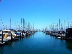 A beautiful day in Santa Barbara Harbor